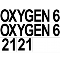 set of stickers - 2x(OXYGEN + 6 + 21)