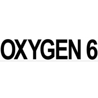 sticker OXYGEN 6 (large, 35x8 cm)